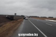 Под Лидой водитель грузовика умер за рулем